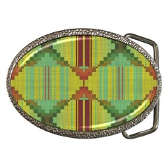 Tribal Shapes Belt Buckle by LalyLauraFLM