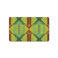 Tribal Shapes Magnet (name Card) by LalyLauraFLM