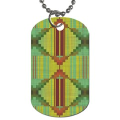 Tribal Shapes Dog Tag (one Side) by LalyLauraFLM