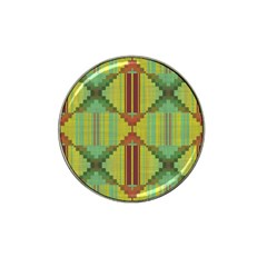 Tribal Shapes Hat Clip Ball Marker (4 Pack)
