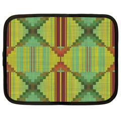 Tribal Shapes Netbook Case (xl) by LalyLauraFLM
