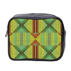 Tribal Shapes Mini Toiletries Bag (two Sides) by LalyLauraFLM