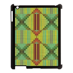 Tribal Shapes Apple Ipad 3/4 Case (black) by LalyLauraFLM