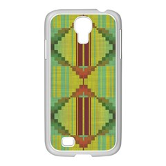 Tribal shapes Samsung GALAXY S4 I9500/ I9505 Case (White) by LalyLauraFLM