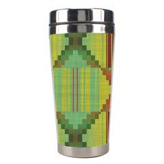 Tribal Shapes Stainless Steel Travel Tumbler by LalyLauraFLM
