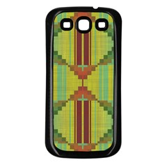 Tribal Shapes Samsung Galaxy S3 Back Case (black) by LalyLauraFLM