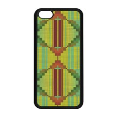 Tribal Shapes Apple Iphone 5c Seamless Case (black) by LalyLauraFLM