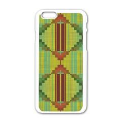 Tribal Shapes Apple Iphone 6 White Enamel Case by LalyLauraFLM