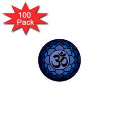 Ohm Lotus 01 1  Mini Button Magnet (100 Pack) by oddzodd