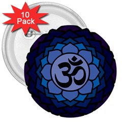 Ohm Lotus 01 3  Button (10 Pack) by oddzodd
