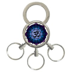 Ohm Lotus 01 3 Ring Key Chain by oddzodd