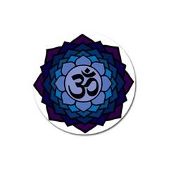Ohm Lotus 01 Magnet 3  (Round) by oddzodd