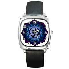 Ohm Lotus 01 Square Leather Watch by oddzodd