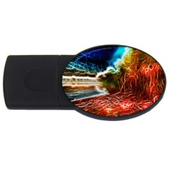 Abstract On The Wisconsin River 2gb Usb Flash Drive (oval) by bloomingvinedesign