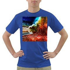 Abstract On The Wisconsin River Men s T Shirt (colored) by bloomingvinedesign