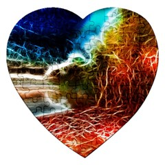 Abstract On The Wisconsin River Jigsaw Puzzle (heart)