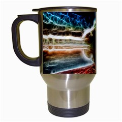 Abstract On The Wisconsin River Travel Mug (white)