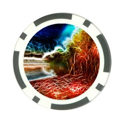 Abstract On The Wisconsin River Poker Chip by bloomingvinedesign