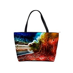 Abstract On The Wisconsin River Large Shoulder Bag