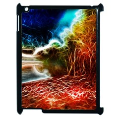 Abstract On The Wisconsin River Apple Ipad 2 Case (black) by bloomingvinedesign