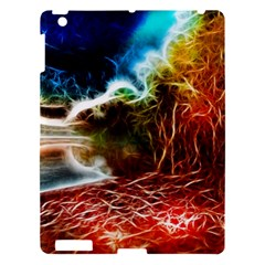Abstract On The Wisconsin River Apple Ipad 3/4 Hardshell Case by bloomingvinedesign