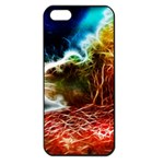 Abstract on the Wisconsin River Apple iPhone 5 Seamless Case (Black) Front