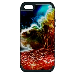 Abstract On The Wisconsin River Apple Iphone 5 Hardshell Case (pc+silicone)