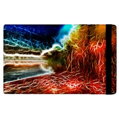 Abstract On The Wisconsin River Apple Ipad 2 Flip Case by bloomingvinedesign