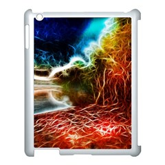 Abstract On The Wisconsin River Apple Ipad 3/4 Case (white)