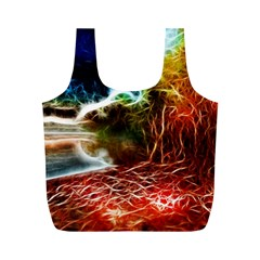 Abstract On The Wisconsin River Reusable Bag (m) by bloomingvinedesign