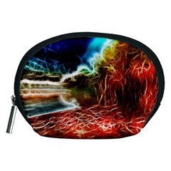 Abstract On The Wisconsin River Accessory Pouch (medium) by bloomingvinedesign