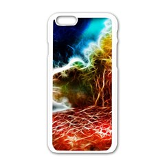 Abstract on the Wisconsin River Apple iPhone 6 White Enamel Case