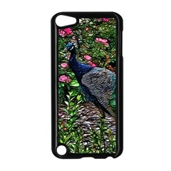 Peacock With Roses Apple Ipod Touch 5 Case (black) by bloomingvinedesign