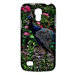 Peacock With Roses Samsung Galaxy S4 Mini (gt I9190) Hardshell Case  by bloomingvinedesign