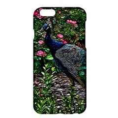 Peacock With Roses Apple Iphone 6 Plus Hardshell Case by bloomingvinedesign