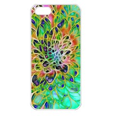 Abstract Peacock Chrysanthemum Apple Iphone 5 Seamless Case (white) by bloomingvinedesign