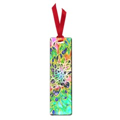 Abstract Peacock Chrysanthemum Small Bookmark