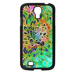 Abstract Peacock Chrysanthemum Samsung Galaxy S4 I9500/ I9505 Case (black) by bloomingvinedesign