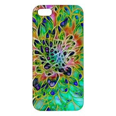 Abstract Peacock Chrysanthemum Iphone 5s Premium Hardshell Case by bloomingvinedesign
