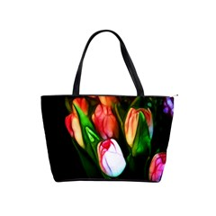 Abstract Pink Tulips Large Shoulder Bag by bloomingvinedesign