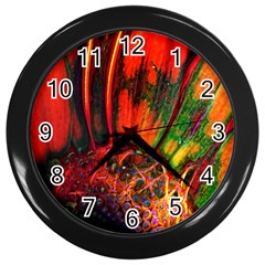 Abstract Of An Orange Gerbera Daisy Wall Clock (black) by bloomingvinedesign