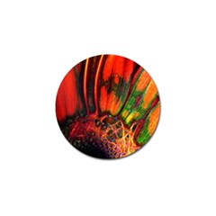 Abstract Of An Orange Gerbera Daisy Golf Ball Marker by bloomingvinedesign