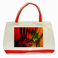 Abstract Of An Orange Gerbera Daisy Classic Tote Bag (red) by bloomingvinedesign