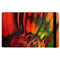 Abstract Of An Orange Gerbera Daisy Apple Ipad 2 Flip Case by bloomingvinedesign