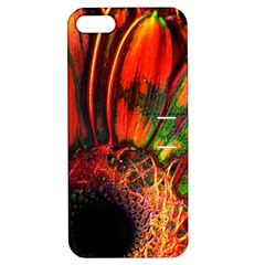 Abstract Of An Orange Gerbera Daisy Apple Iphone 5 Hardshell Case With Stand by bloomingvinedesign