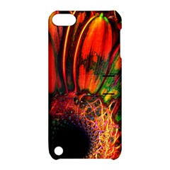 Abstract Of An Orange Gerbera Daisy Apple Ipod Touch 5 Hardshell Case With Stand by bloomingvinedesign
