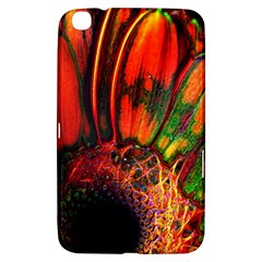 Abstract Of An Orange Gerbera Daisy Samsung Galaxy Tab 3 (8 ) T3100 Hardshell Case