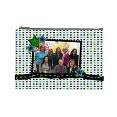 Bonnie Retirement Pouch By Connie Priesz   Cosmetic Bag (large)   Adt6zmp09lub   Www Artscow Com Front