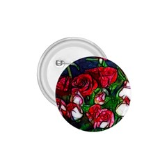 Abstract Red And White Roses Bouquet 1 75  Button by bloomingvinedesign