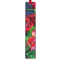 Abstract Red And White Roses Bouquet Large Bookmark by bloomingvinedesign